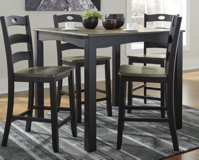 Signature Design by Ashley® Froshburg 5 Piece Counter Height Table and Barstools-D338-223
