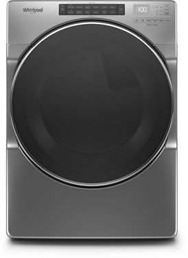 Whirlpool® 7.4 Cu. Ft. Chrome Shadow Front Load Electric Dryer-YWED9620HC