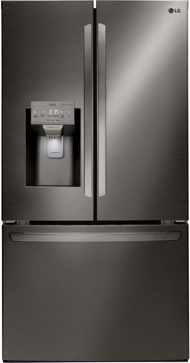 LG 22.1 Cu. Ft. Black Stainless Steel Counter Depth French Door Refrigerator-LFXC22526D