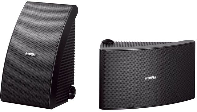 Yamaha® Black All Weather Outdoor Speakers-NS-AW992BL
