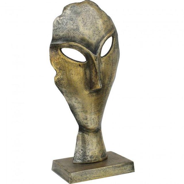 Statue de visage Fielden, laiton antique, Renwil®-STA747