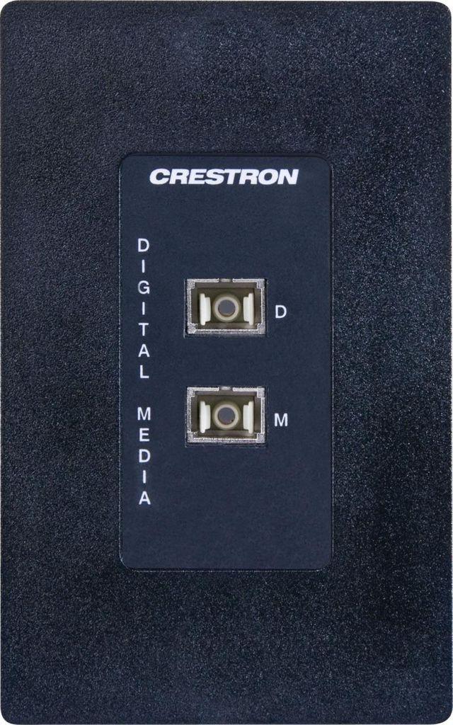 Crestron® Media Presentation Wall Plate-Black-MP-WP186-B