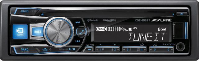 Alpine® CD Receiver-CDE-153BT