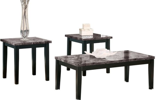 Signature Design by Ashley® Maysville 3 Piece Black Occasional Table Set-T204-13