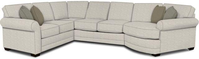 England Furniture Co. Brantley 4 Piece Culpepper Snow/Alvarado Mineral/Harmon Linen Sectional-5630-28-22-43-95+8613+8631+8601