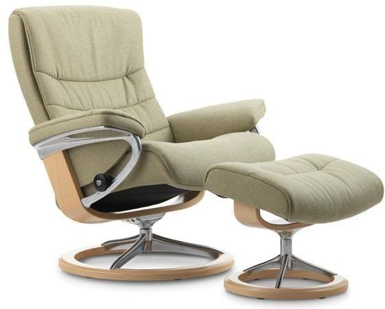 Stressless® by Ekornes® Nordic Small Signature Base Chair and Ottoman-1284315