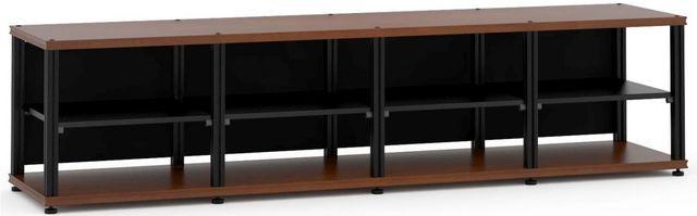 Salamander Designs® Synergy Quad 20 AV Cabinet-Dark Cherry/Black-SQ20C/B