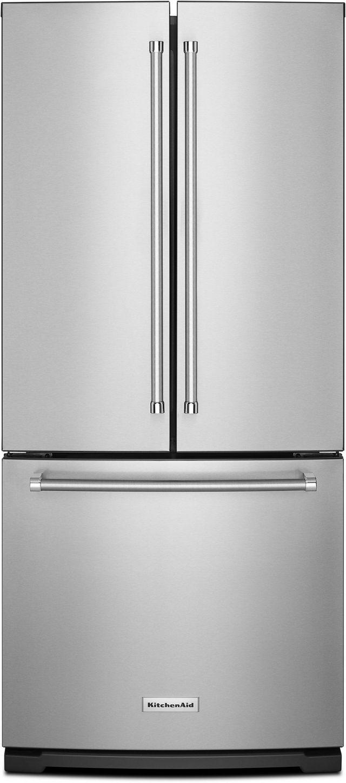 KitchenAid® 19.68 Cu. Ft. Stainless Steel French Door Refrigerator-KRFF300ESS