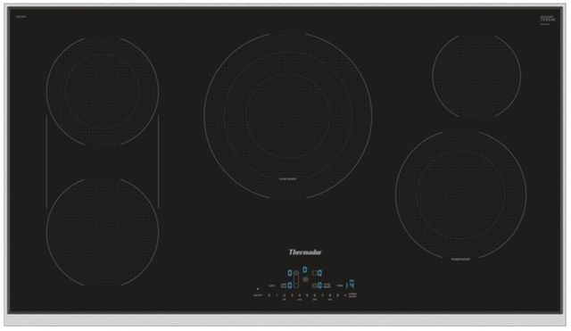"""Thermador® Masterpiece® Series 36"""" Electric Cooktop-Stainless Steel Frame-CET366TB"""
