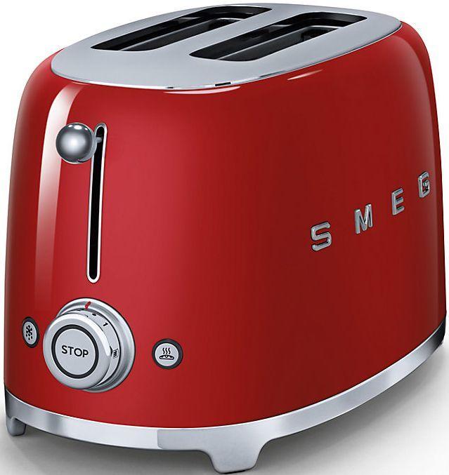 Smeg 50's Retro Style 2 Slice Toaster-Red-TSF01RDUS