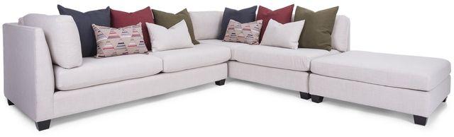 Sectionnel 3 morceaux 2875 en tissu blanc Decor-Rest®-2875-17+17+00