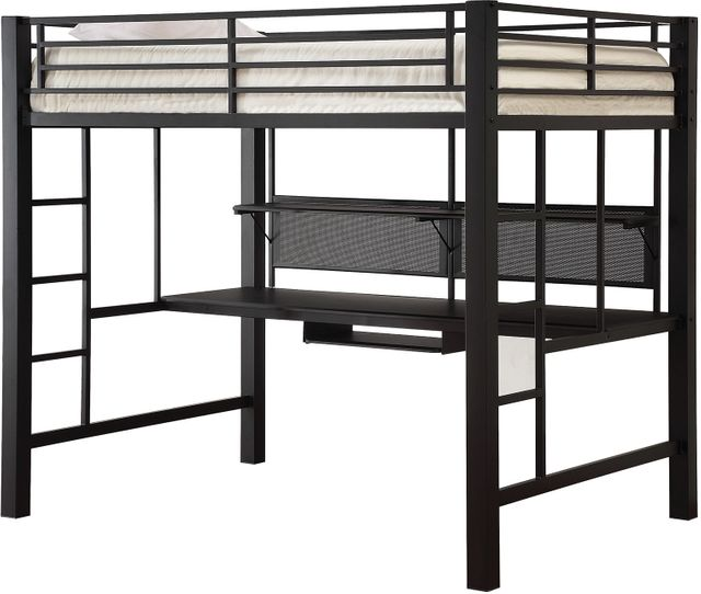 Coaster® Avalon Black Metal Youth Loft Bed-460023