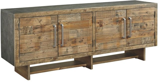 """Signature Design by Ashley® Mozanburg Rustic Brown 72"""" Extra Large TV Stand-W665-68"""