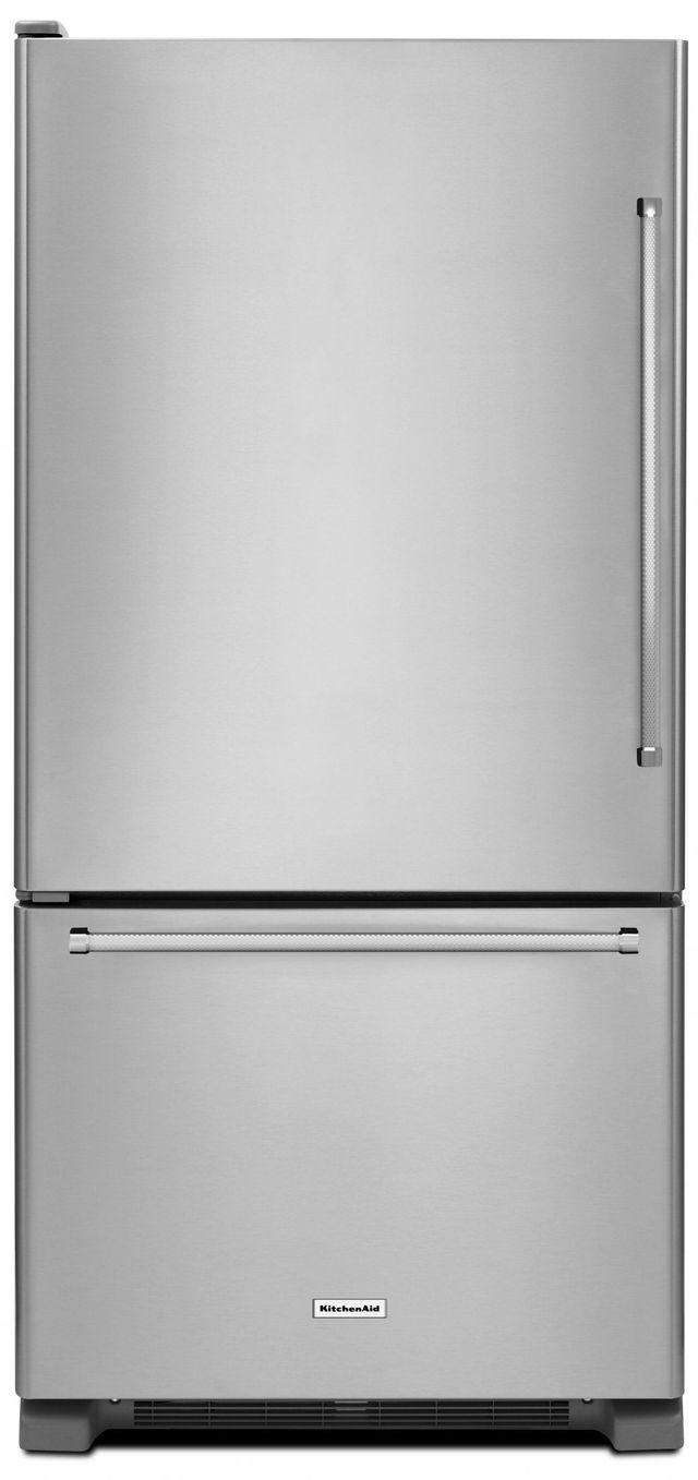 KitchenAid® 22.07 Cu. Ft. Stainless Steel Bottom Freezer Refrigerator-KRBL102ESS