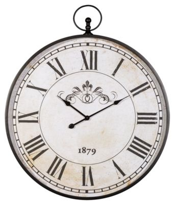 Signature Design by Ashley® Augustina Antique Black Wall Clock-A8010110