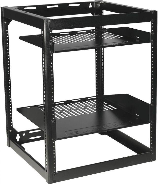 Sanus® Component Series Black 15U Stackable Skeleton Rack-CFR1615-B1
