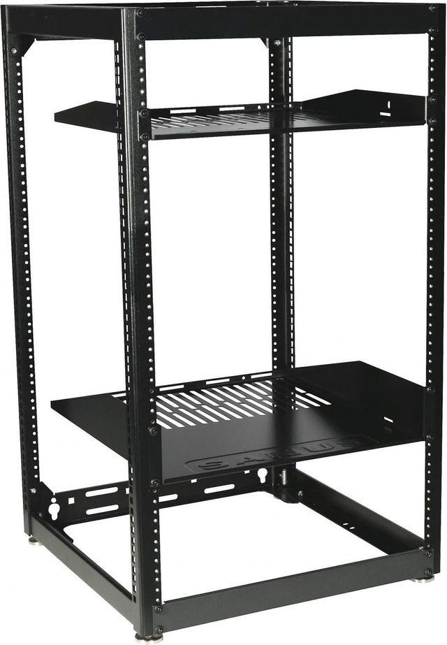 Sanus® Component Series Black 20U Stackable Skeleton Rack-CFR1620-B1