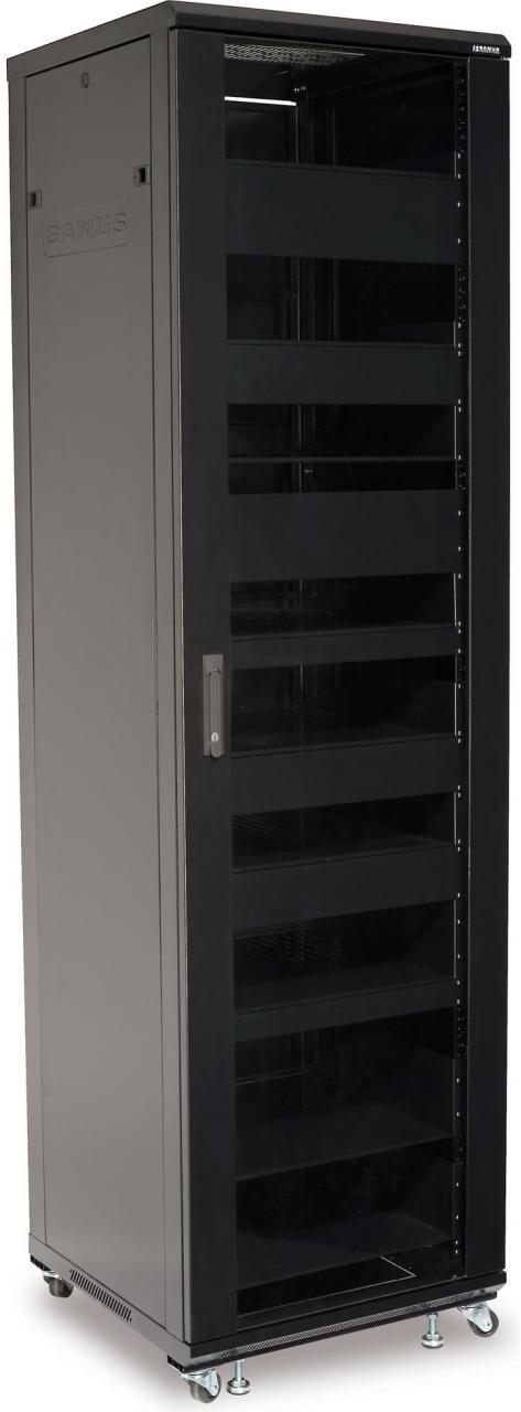 Sanus® Component Series Black 44U Component Rack-CFR2144-B1