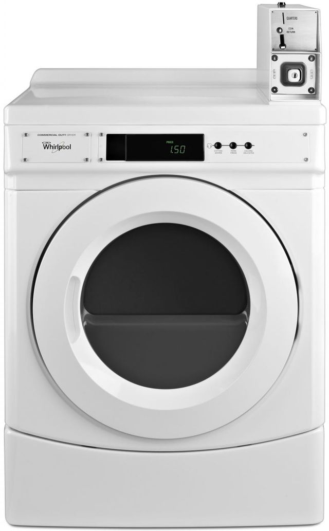 Whirlpool® Commercial 6.7 Cu. Ft. White Front Load Gas Dryer-CGD9150GW
