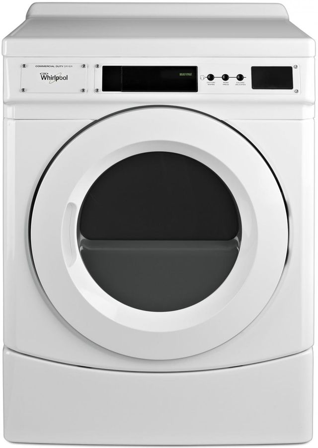 Whirlpool® Commercial 6.7 Cu. Ft. White Front Load Gas Dryer-CGD9160GW