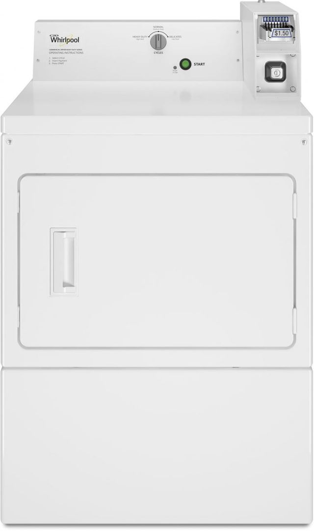 Whirlpool® Commercial 7.4 Cu. Ft. Front Load White Gas Dryer-CGM2745FQ