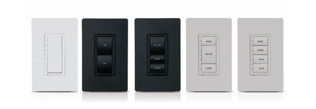 Crestron Cameo® Express Wireless In-Wall Dimmer/Switch Combo-Black Smooth-CLW-DIMSWEX-E-B-S