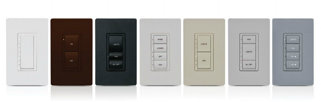 Crestron Cameo® Wireless In-Wall Dimmer/Switch Combo-Black Smooth-CLW-DIMSWEX-P-B-S