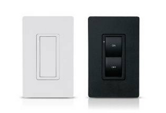 Crestron Cameo® Express Wireless In-Wall Switch, 120V-Black Smooth-CLW-SWEX-E-B-S