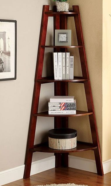 5 Brown Furniture of America CM-AC293 Lugo Ladder Display Shelf