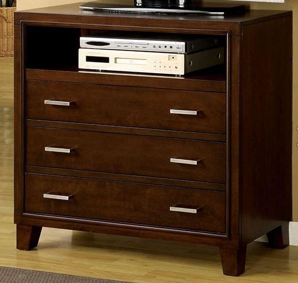 Furniture of America®  Enrico I Brown Cherry Media Chest-CM7068TV