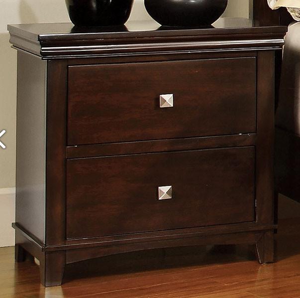Furniture of America® Spruce Brown Cherry Nightstand-CM7113CH-N