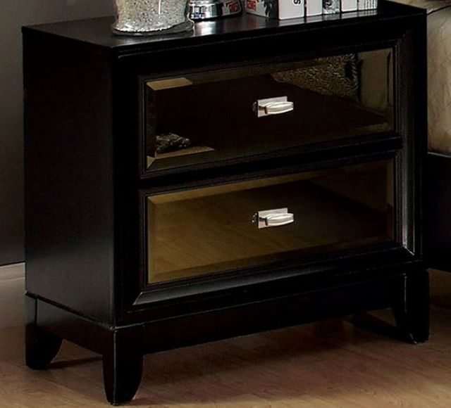 Furniture of America Golva Nightstand-Black-CM7295N