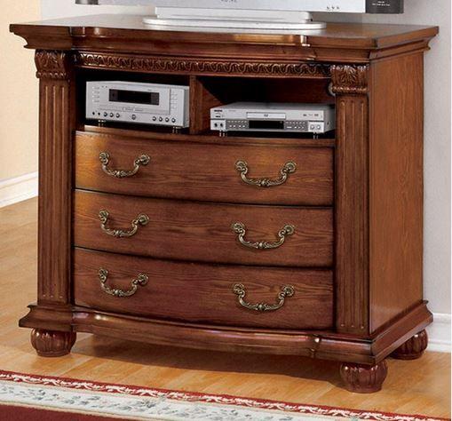 Furniture of America Bellagrand Media Chest-CM7738TV-DR