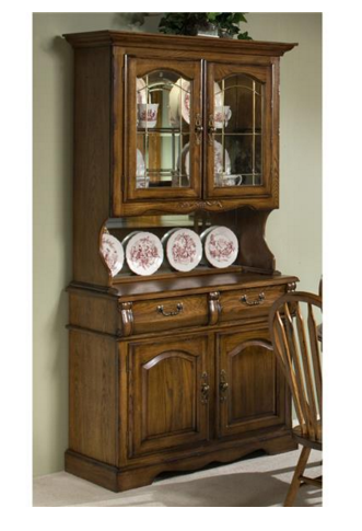 Intercon Classic Oak Collection Dining Room Small China Buffet-CO-CA-2250-BRU-BSE