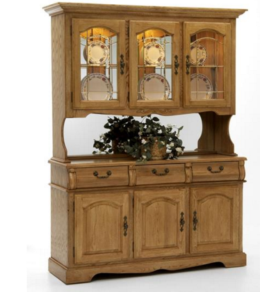 Intercon Classic Oak Collection Dining Room Large China Buffet-CO-CA-3050-CNT-BSE