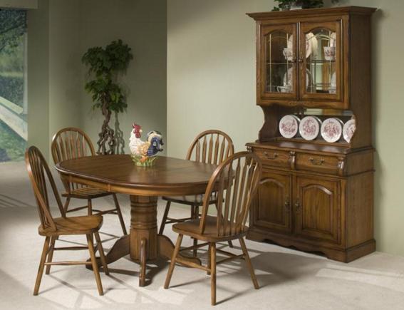 Intercon Classic Oak Collection Pedestal Table Base-CO-TA-I4260-BRU-BSE