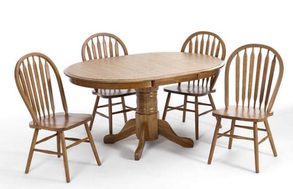 Intercon Classic Oak Collection Pedestal Table Base-CO-TA-L4260-CNT-BSE
