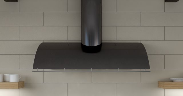 """Zephyr Cheng Limited Edition Okeanito 36"""" Wall Hood-Black Mirror Stainless Steel-COK-E36BBMX"""