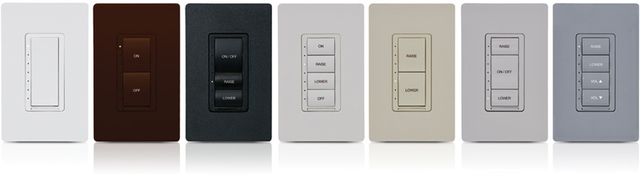 Crestron Cameo® Wireless In-Wall ELV Dimmer, 230V-Black Textured-CLW-DELVEX-230-P-B-T
