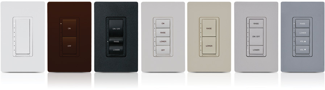 Crestron Cameo® Wireless In-Wall Dimmer, 230V-Black Smooth-CLW-DIMEX-230-P-B-S