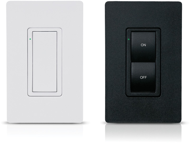 Crestron Cameo® Express Wireless In-Wall Switch, 230V-Almond Smooth-CLW-SWEX-230-E-A-S