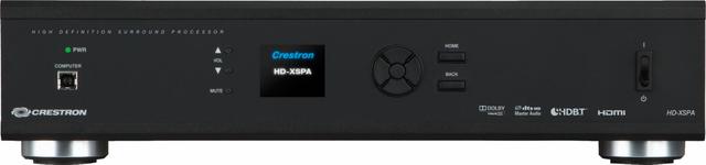 Crestron® 4K Ultra High-Definition 7.1 Surround Sound AV Receiver, International Version, 220-240V-Black-HDI-XSPA