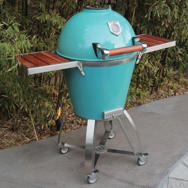 Caliber Pro Kamado Charcoal Grill-Turquoise-CTP22-TQ