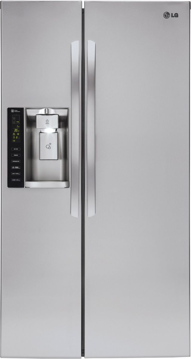 LG 21.91 Cu. Ft. Stainless Steel Counter Depth Side-by-Side Refrigerator-LSXC22426S