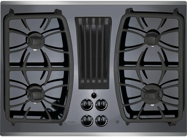 """GE Profile™ Series 30"""" Stainless Steel Gas Cooktop-PGP9830SJSS"""