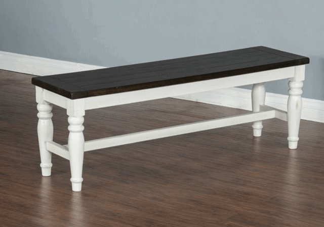 Sunny Designs Carriage House European Cottage Dining Room Bench-1642EC