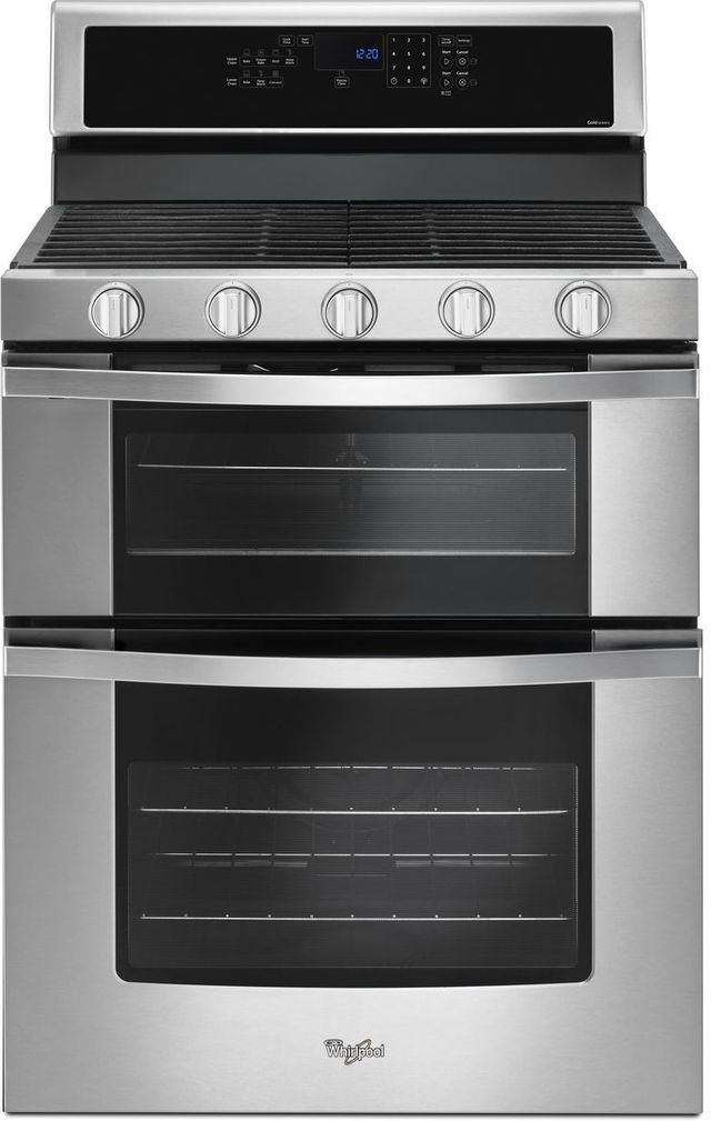"""Whirlpool® 30"""" Gas Built In Double Oven-Stainless Steel-WGG745S0FS"""