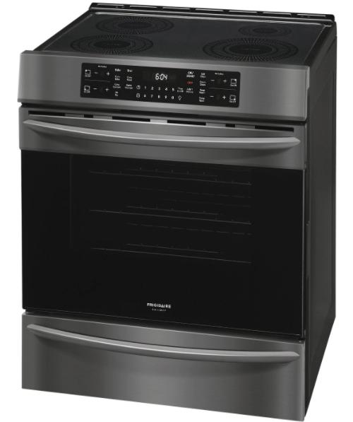 "Frigidaire Gallery® 30"" Smudge-Proof® Black Stainless Steel Freestanding Induction Range-CGIH3047VD"