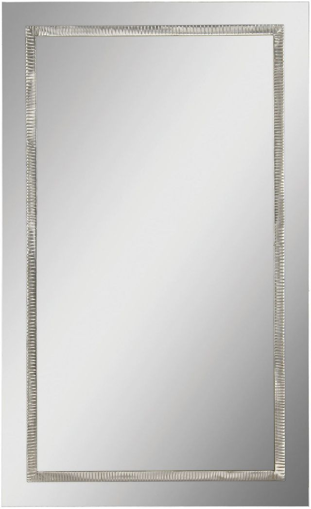 Miroir mural Shanton, nickel satiné, Renwil®-MT1123