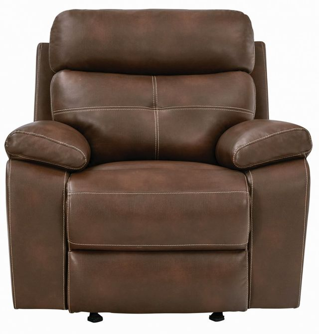 Coaster® Damiano Tri-tone Brown Upholstered Glider Recliner-601693